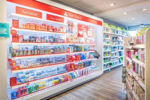 OTC medicines displays